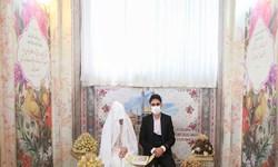 اتاق عقد حرم بانوی کرامت میزبان مراسم ازدواج زوج های جوان