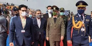 بازدید وزیر دفاع از نمایشگاه هوایی هند ۲۰۲۱