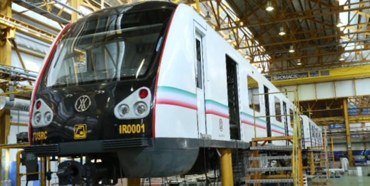 قطار ملی رونمایی شد/ توان تولید 400 واگن مترو در سال