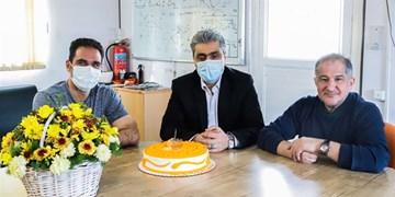 دیدار مدیرعامل و سرمربی سایپا در روز تولد صادقی