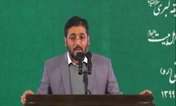 فیلم|مدح خوانی عربی حاج سعید کرمعلی محضر رهبر انقلاب