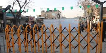 دو راهبند مکانیکی ورودی اصلی پیاده راه فردوسی و میدان آزادی نصب شد