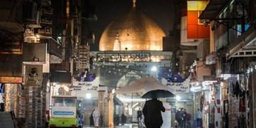 جای خالی زائران ایرانی زیر باران کربلا و نجف+ عکس و فیلم