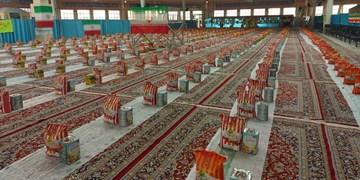توزیع ۳۰۰۰ بسته معیشتی در خراسان شمالی در ادامه رزمایش همدلی و مواسات