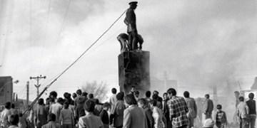اولین باری که مردم مجسمه دیو را پایین کشیدند