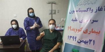 کادر درمان بخش «آی.سی.یو» البرز واکسن کرونا دریافت کردند