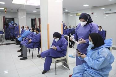 مراسم آغاز واکسیناسیون سراسری علیه بیماری کووید-19  در اردبیل