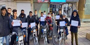 مردم قروه با رژه موتوری ۲۲ بهمن را گرامی داشتند