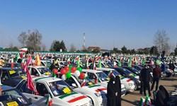حضور چشمگیر خودرویی گیلانیان در جشن ۲۲ بهمن + فیلم