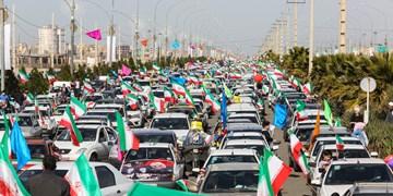جلوه هایی از حضور مردم قم در راهپیمایی 22 بهمن