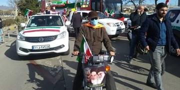 راهپیمایی خودرویی 22 بهمن در قزوین برگزار شد