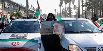 راهپیمایی 22 بهمن در غرب مازندران