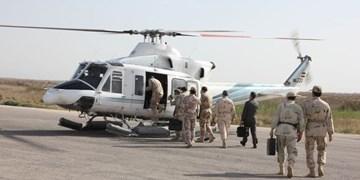 بازدید هوایی مرزی و افتتاح یک پاسگاه شناوری توسط فرمانده مرزبانی ناجا