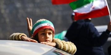 راهپیمایی موتوری و خودرویی مردم اصفهان به مناسبت 22 بهمن