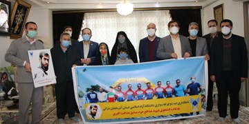 تیم دوچرخهسواری دانشگاه آزاد اسلامی تبریز مزین به نام شهید عدالت اکبری