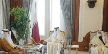 دیدار رئیس پارلمان کویت با امیر قطر