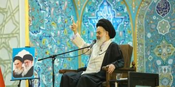 مراسم چهلم عمار انقلاب|حسینی بوشهری:آیت الله مصباح یزدی چهره اسلام ناب را به مردم نشان داد