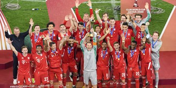 شش گانه بایرن مونیخ تکمیل شد /جشن قهرمانی آلمانیها در جام باشگاههای دنیا +فیلم
