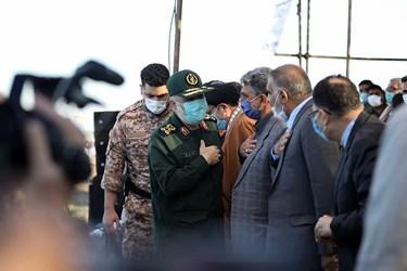 حضور سردار سلامی و جمعی از فرماندهان نظامی در مرحله نخست رزمایش پیامبر اعظم (ص) ۱۶ نیروی زمینی سپاه