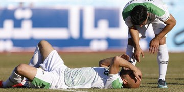 حاشیه بازی آلومینیوم و سپاهان| درگیری بازیکنان در پایان بازی/ورزشگاه اراک بدون آب شرب