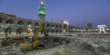 صحن امام محمدباقر (ع) در کاظمین سال ۱۴۰۴ تکمیل میشود+عکس