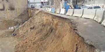 فیلم| رانش ادامهدار خیابانی در پردیس/ فاجعه نزدیک است؟