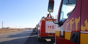 اعزام 20 آتش نشان برای نجات کارگران محبوس شده معدن ونارچ