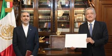 تقدیم استوارنامه سفیر جدید ایران به رئیس جمهور مکزیک