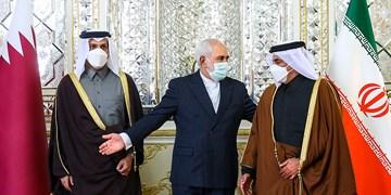 دیدار وزیر امور خارجه قطر با ظریف