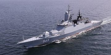 استقبال از ناوگروه روسیه شرکت کننده در رزمایش مرکب دریایی ایران و روسیه