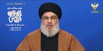 سید حسن نصرالله: اسرائیل با آتش بازی نکند؛ دولت جدید آمریکا دنبال احیای داعش است