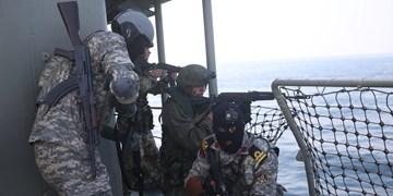 اجرای عملیات آزادسازی کشتی ربوده شده در رزمایش دریایی ایران و روسیه