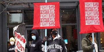 اعتصابات کارگری در پانزده شهر آمریکا