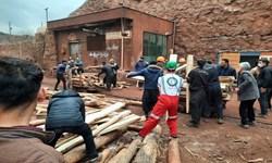 ریزش معدن منگنز قم| نجات 3 کارگر محبوس شده/ یک کارگر هنوز زیر آوار است