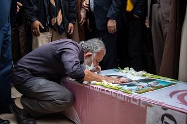 مراسم تشییع شهید مدافع امنیت محسن جعفری