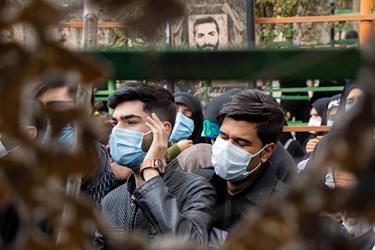 مراسم  خاکسپاری شهید مدافع امنیت محسن جعفری در دارالرحمه شیراز