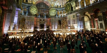 لیلةالرغائب در مسجد تاریخی ایاصوفیه استانبول برای اولین بار+تصاویر