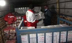 ارسال نخستین محموله امدادی هلال احمر زنجان به زلزله زدگان سی سختی