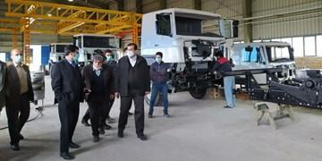 «چاپار» ناوگان حمل و نقل کشور را تقویت میکند/ افزایش تولید قطعات در کارخانه کامیونسازی مشگین شهر