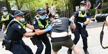 برگزاری اعتراضات ضد واکسیناسیون کرونا در شهرهای مختلف استرالیا
