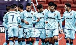 هفته بیست و چهارم لالیگا شکست خانگی اتلتیکو مقابل لوانته