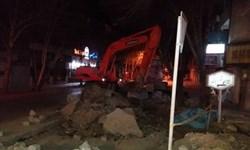بیاحتیاطی حین خاکبرداری عامل ترکیدگی لوله گاز در اصفهان/ گاز بدون مصدوم و حریق مهار شد