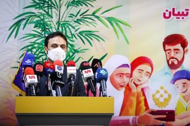 سخنرانی کمیل خجسته مدیرعامل موسسه فرهنگی و رسانهای تبیان در مراسم رونمایی از سبد محصولات زندگی تبیان