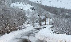 بارش برف در محورهای مواصلاتی گیلان