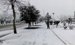 نخستین برف زمستانی «کوهبنان» را سفیدپوش کرد