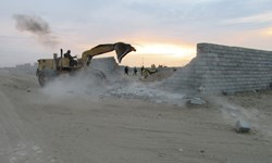 رفع تصرف ۳۵ هزار مترمربع اراضی ملی در سیرجان