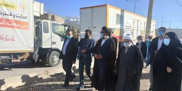 کاروان بزرگ کمکهای کانون فرهنگی مساجد در سیسخت/نان 2 ماه زلزلهزدگان تضمین شد+فیلم