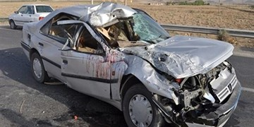 واژگونی و حریق خودروی سواری در محور بناب  - ملکان با 2 کشته