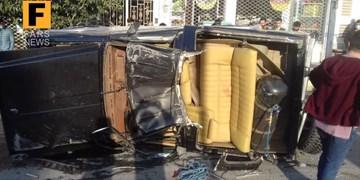 سانحه شدید رانندگی در محور ناهارخوران با 3 مجروح