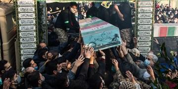 تشییع پیکرپاک دو شهید گمنام در تهران